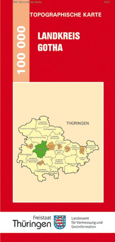 Landkreis Gotha Karte.7 Landkreis Gotha Topographische Kreiskarte 1 100 000
