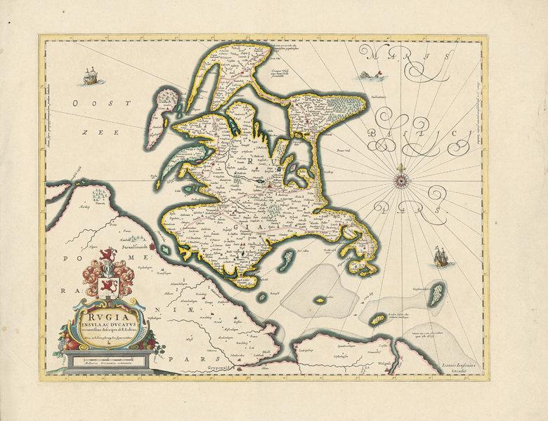 Historische Karte Insel Rugen 1647 Plano Janssonius