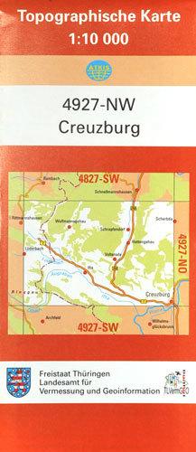 Topographische Karte Thüringen.Creuzburg 2010 Topographische Karte 1 10 000 Atkis