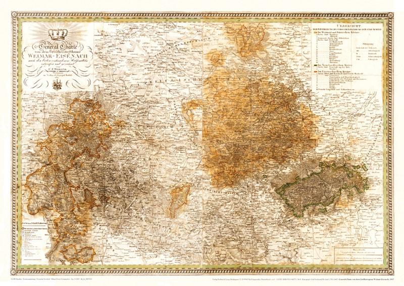Historische Karte Potsdam.Historische Karte Grossherzogtum Weimar Eisenach 1817