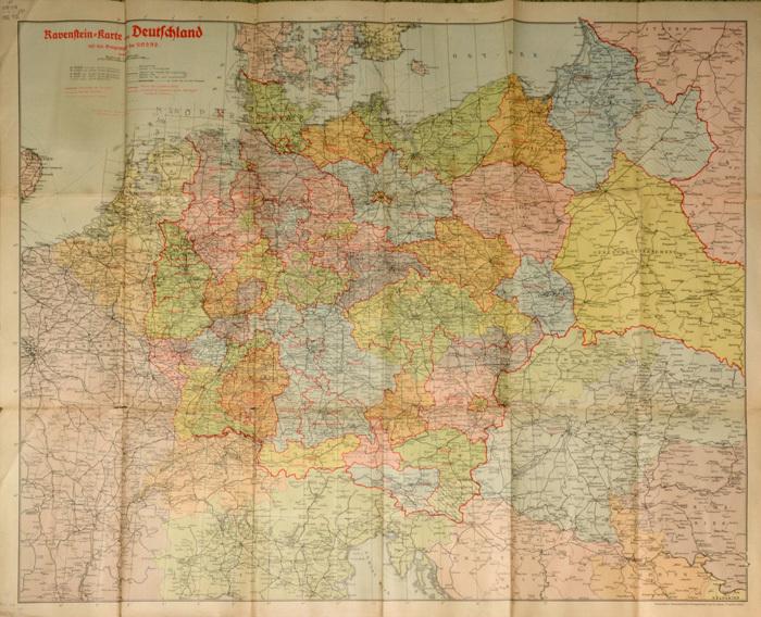 karte deutschland 1942 ORIGINAL Karte: DEUTSCHLAND 1942   gefaltet